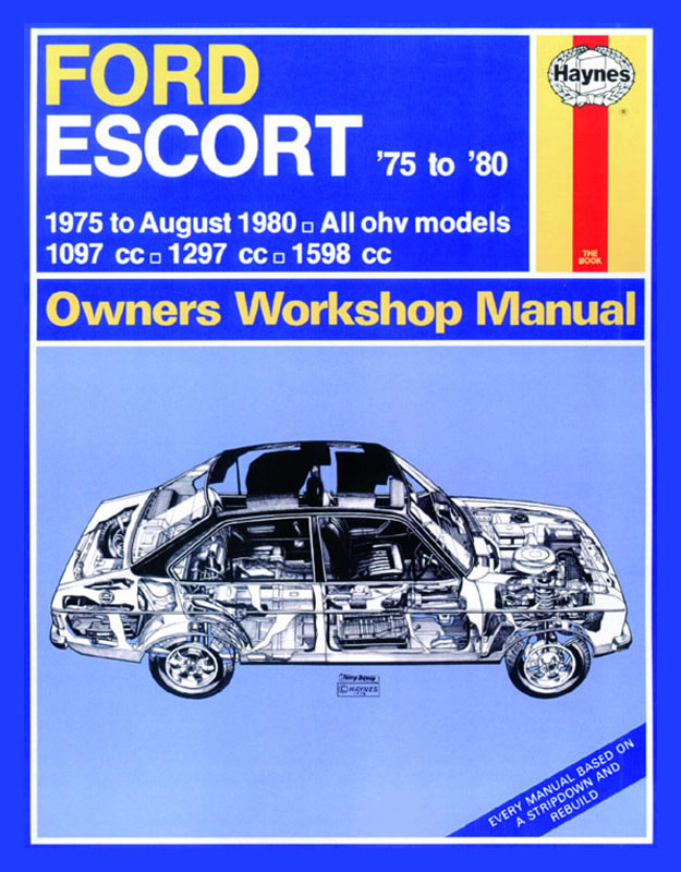 Ford Escort (75 - Aug 80) Revue technique Haynes Classic Reprint