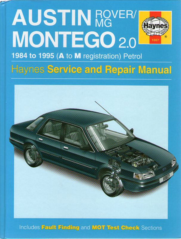 Austin Rover/MG Montego 2.0 service and repair manual