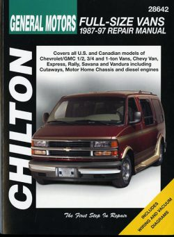 General Motor Full-size vans 1987-1997 Repair manual