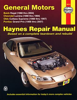 General Motors: Buick Regal, Chevrolet Lumina, Olds Cutlass Supreme and Pontiac Grand Prix (88 - 07)