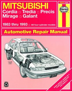 Mitsubishi Cordia, Tredia, Galant, Precis and Mirage (83 - 93) Revue technique Haynes