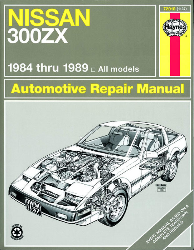Nissan 300ZX Turbo and non-Turbo models (84 - 89) Revue technique Haynes