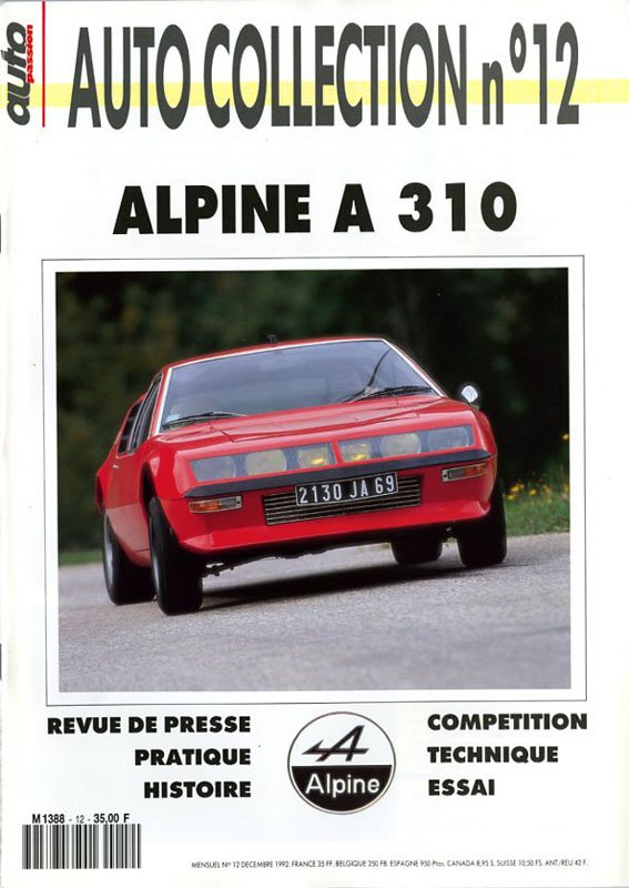 Auto Collection n°12 Alpine A310