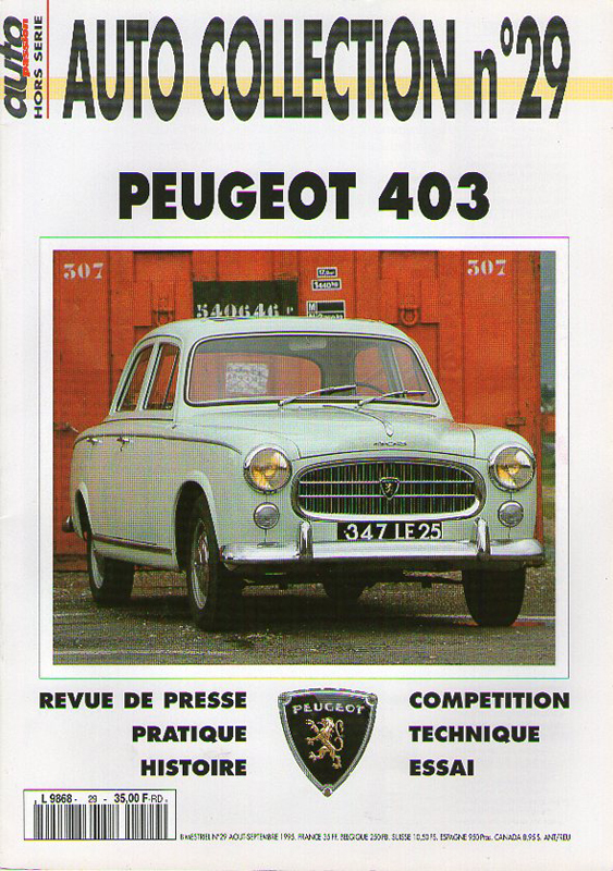 Auto Collection n°29 - PEUGEOT 403