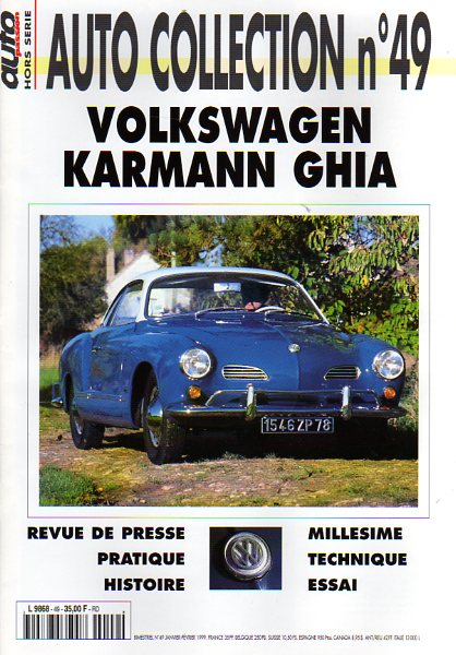 Volkswagen Karmann Ghia - Auto Collection n°49