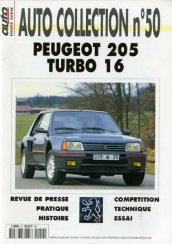Peugeot 205 Turbo 16. Autocollection n°50