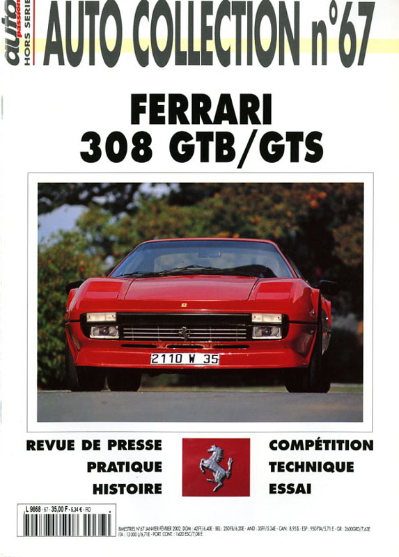 Auto Collection n°67 - Ferrari 308 GTB/GTS