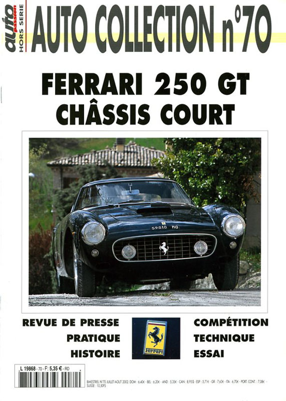 Auto Collection n°70 - Ferrari 250 GT châssis court