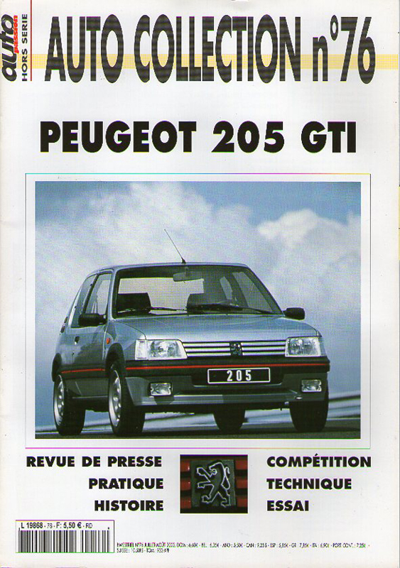 Auto Collection n°76 - PEUGEOT 205 GTI