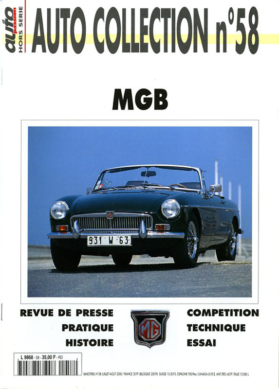 MGB Auto collection n°58