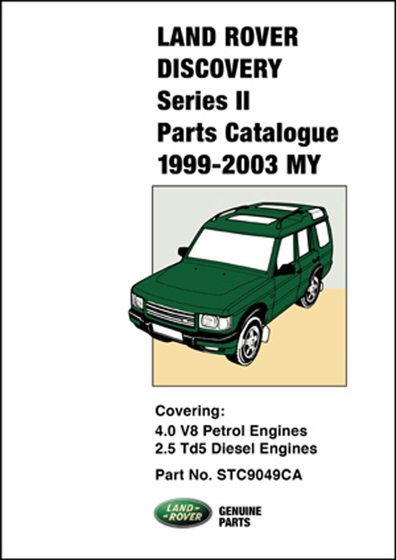 Land Rover Discovery Series II Parts Catalogue 1999-2003 MY