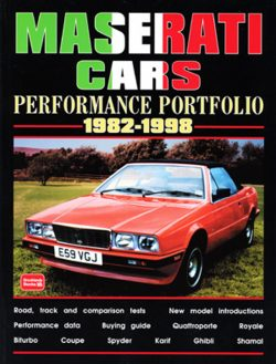 Maserati Cars Performance Portfolio 1982-1998