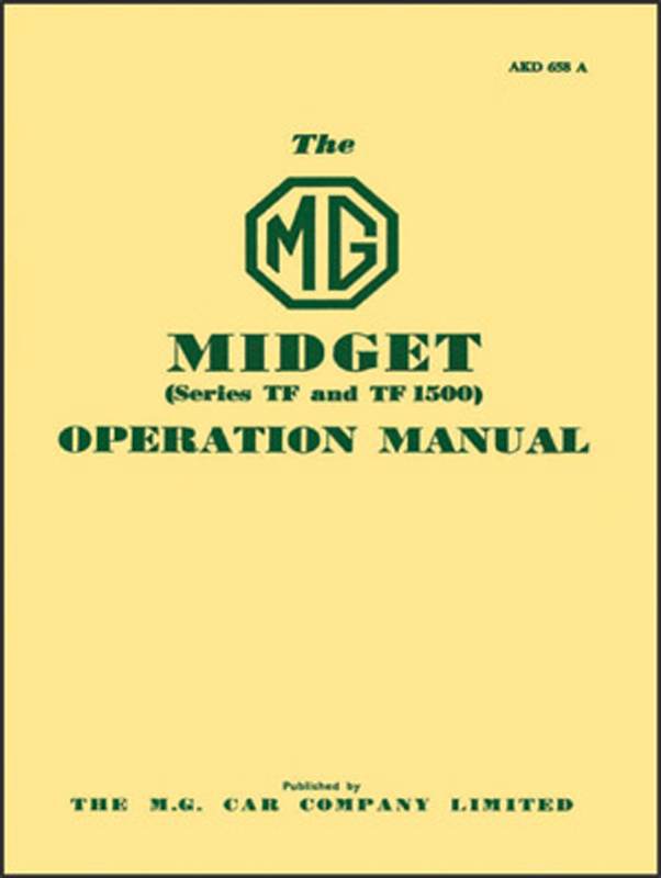 MG Midget Series TF & TF1500 Operation Manual
