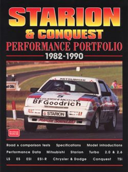 Mitsubishi Starion and Conquest Performance Portfolio 1982-1990