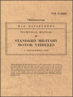 Standard Military Motor Vehicles