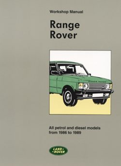 Range Rover Workshop Manual 1986-1989