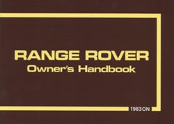 Range Rover Owners Handbook 1983 On