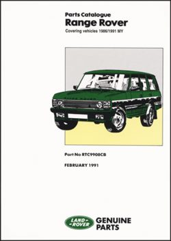 Range Rover Parts Catalogue 1986-1991