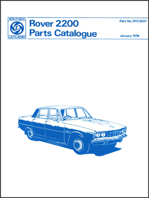 Rover 2200 Parts Catalogue (P6)