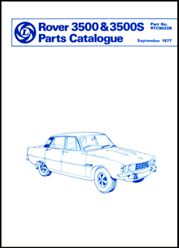 Rover 3500 & 3500S Parts Catalogue (P6)