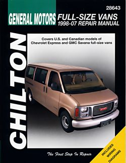 General Motors Full Size Vans (98 - 07) Revue technique Chilton