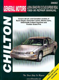 General Motors Lumina/Grand Prix/Cutlass Supreme/Regal (88 - 96) Revue technique Chilton