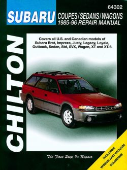 Subaru Coupes/Sedans/Wagons (85 - 96) Revue technique Chilton