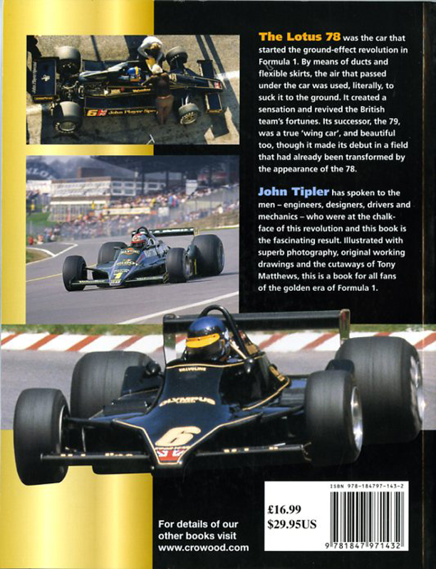 Lotus 78 and 79 - The Ground-Effet cars