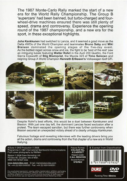 DVD - World Rally Championship Monte-Carlo 1987