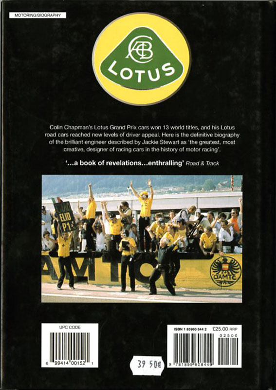 Colin Chapman The man and his cars - The authorised biography