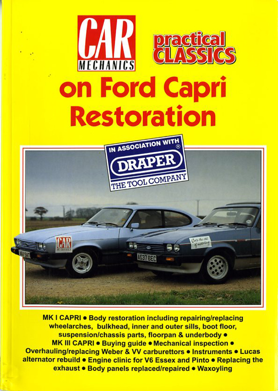 Car mecanics on Ford Capri restoration