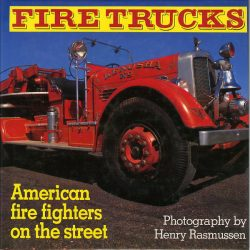 Fire trucks - American fire fighters on the street