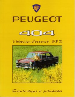 Peugeot 404 à injection d'essence