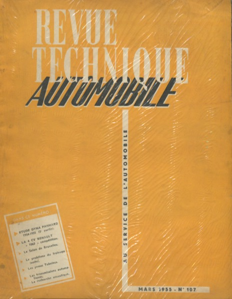 Revue Technique Automobile n°108 - Avril 55 - Moteurs Perkins Types P3 - P4 - P6