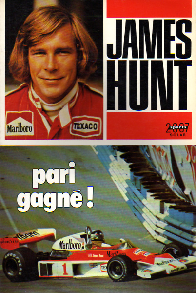 James Hunt - Pari gagné !