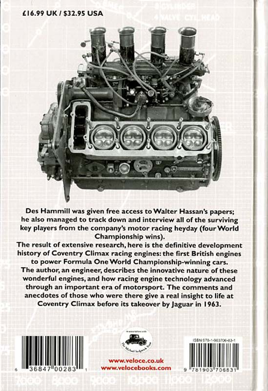 Coventry Climax racing engines. The Definitive Development History