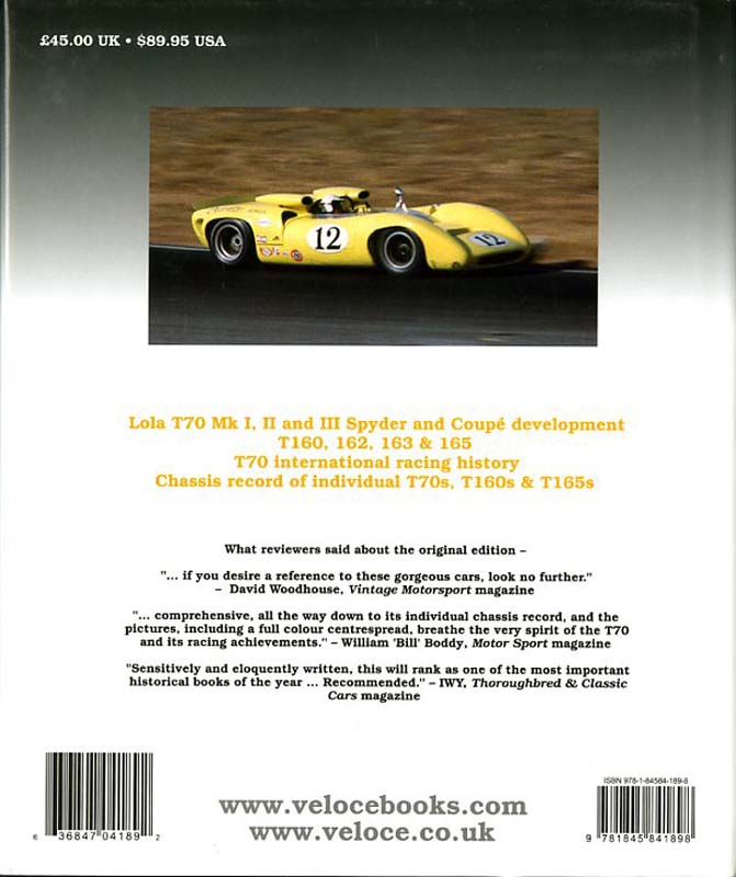 Lola T70 The racing history & individual chassis record