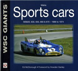 Matra sports cars MS620, 630, 650, 660 & 670 - 1966 to 1974